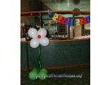 Цветок из шаров 12 дюймов, с гелием (на ножке) 1.4-1.5м