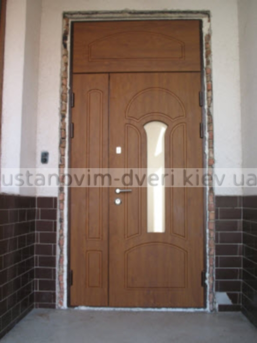 двухстворчатые входные стальные двери в сталинских домах
